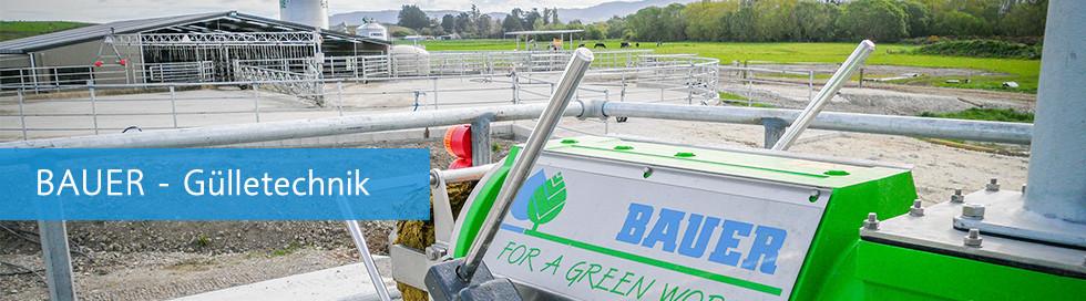 Bauer Separatoren für Biogas und Gülle