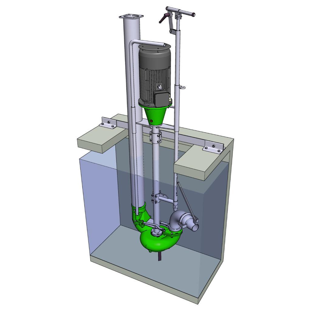 Rührmixpumpe ER2 von EURO-P Güllepumpen