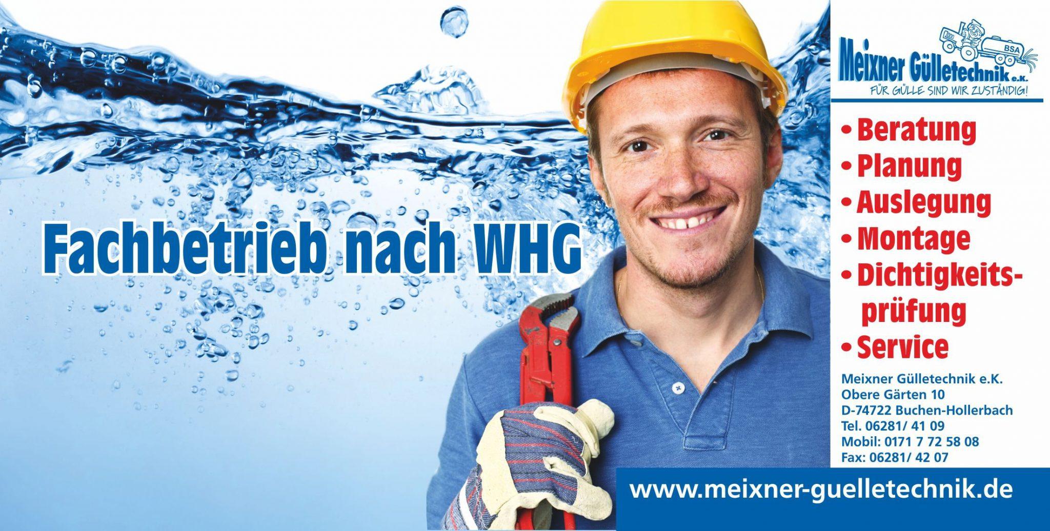 Fachbetrieb nach WHG Meixner Gülletechnik