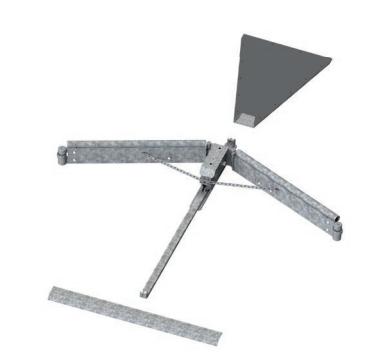 Rinderstall Faltschieber V-Matic als Kotschieberlösung im Rinderstall